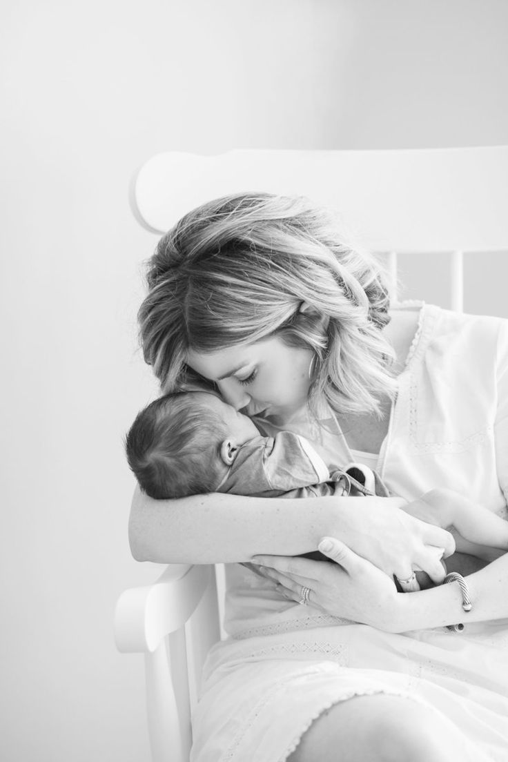 Black & White Mom & Baby