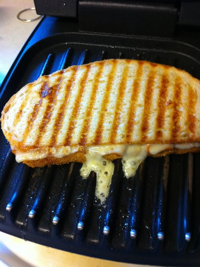 Grill sandwich to desired done-ness