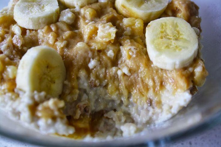 Gooey Peanut Butter and Banana Oats