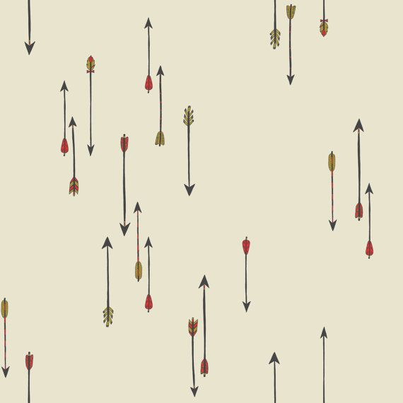 Flying Arrows illustrated fabric fat quarter by FandGForest, $9.50