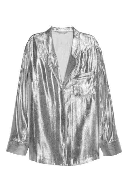 Silk-blend blouse