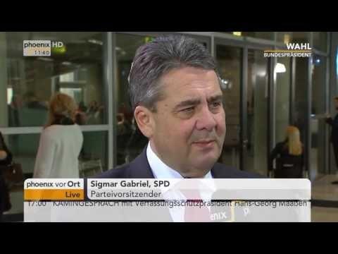 Sigmar Gabriel im Interview mit Alfred Schier zun neuen Bundespräsidente...