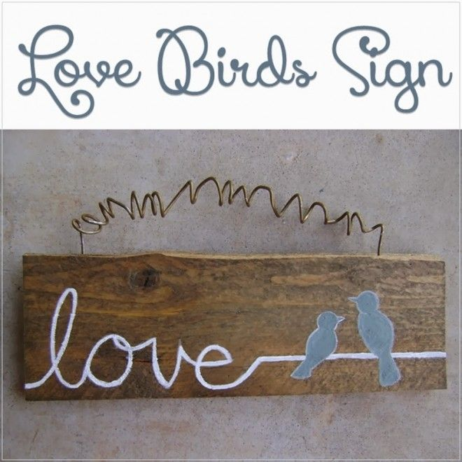 How sweet is this Love Bird Sign from Let's Drink Coffee, Darling? I love the top part. Can you guess what it's made from? Go check the tutorial to see if you're right.