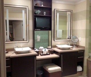 Best 12 Fascinating Bathroom Cabinets With Makeup Vanity Ideas