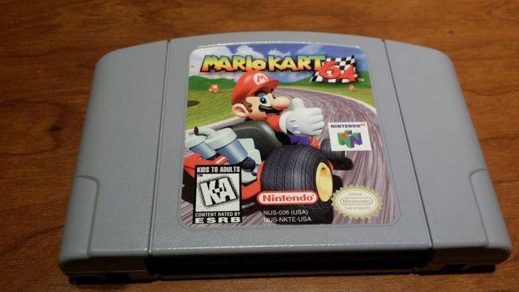 Mario Kart 64 Nintendo 64 video game, Mario kart 64 n64 game, Mario kart 64, Mario kart, super Mario kart 64, Nintendo 64 Mario kart - pinned by pin4etsy.com