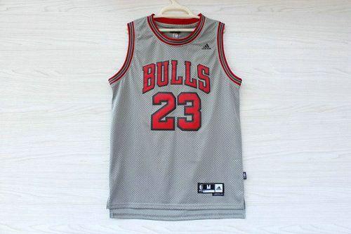 Camisetas de Baloncesto NBA Chicago Bulls Michael Jordan #23 Gris 7003