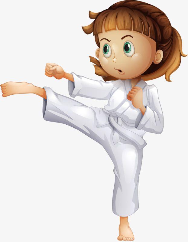 فتاة التايكوندو فتاة أبيض ملابس الساموراي Png وملف Psd للتحميل مجانا Martial Arts Kids Taekwondo Girl Taekwondo