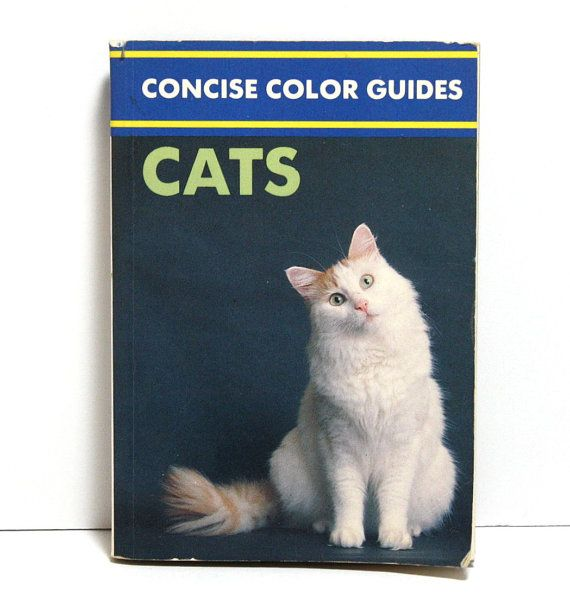 Cat Book Concise Color Guides Very Small Book by craftsandtrinkets