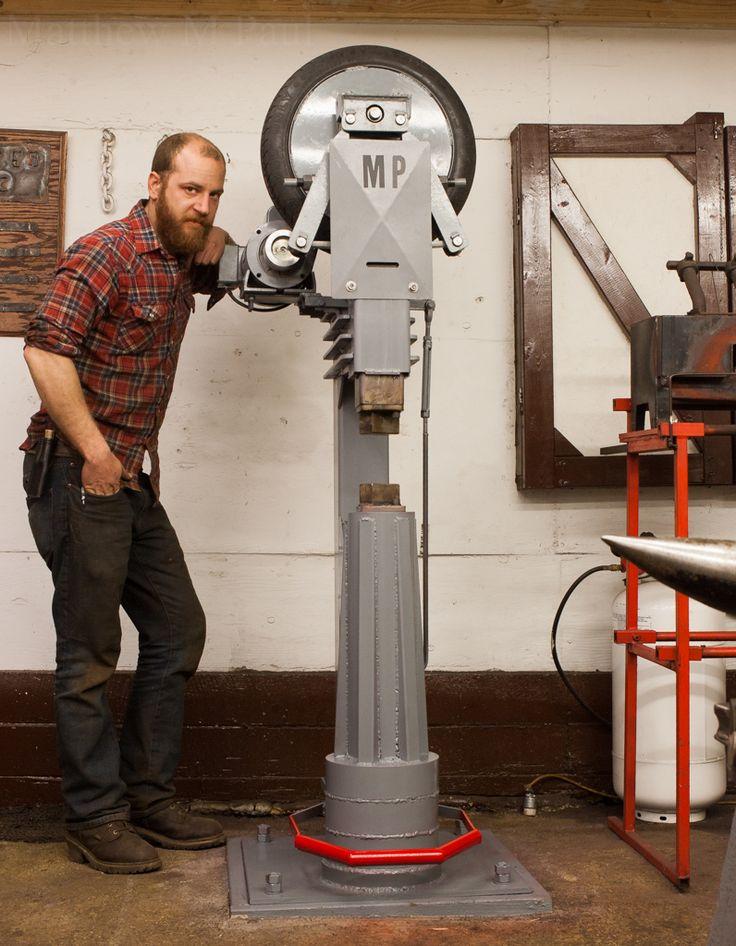 Home Made 50lb Mechanical Power Hammer