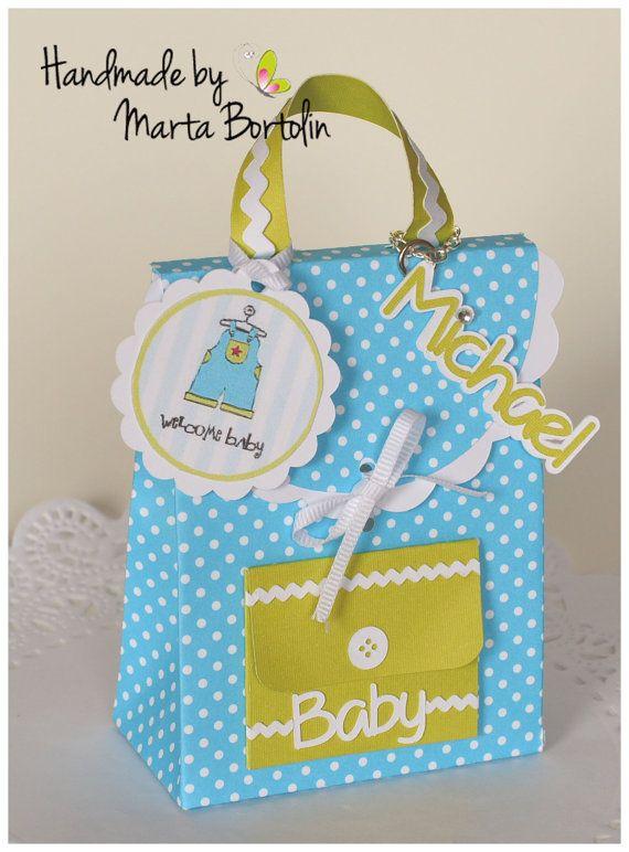 Baby Shower Favor Bag Backpack Favor Bag by tracesofcrafts on Etsy