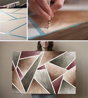 DIY canvas art idea