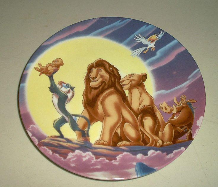 disney 39 s lion king collectors plate walt disney theme. Black Bedroom Furniture Sets. Home Design Ideas