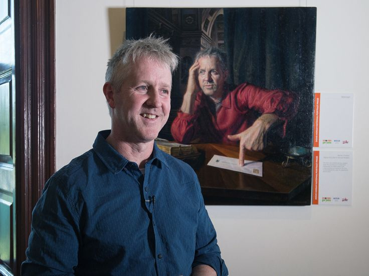Click through for VIDEO. Melbourne artist Warren Crossett has won the prestigious Doug Moran National Portrait Prize for his self-portrait inspired by St Jerome of Flanders. The $150,000 reward is thought to be the world's most generous art prize and was announced in Sydney at Juniper Hall in Paddington on Wednesday. Having worked as a commercial and children's book illustrator for most of his career, it was the first time Crossett had entered an art competition.
