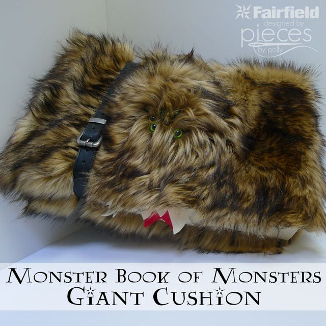 Pieces by Polly: DIY Monster Book of Monsters - Giant Cushion - No-Sew