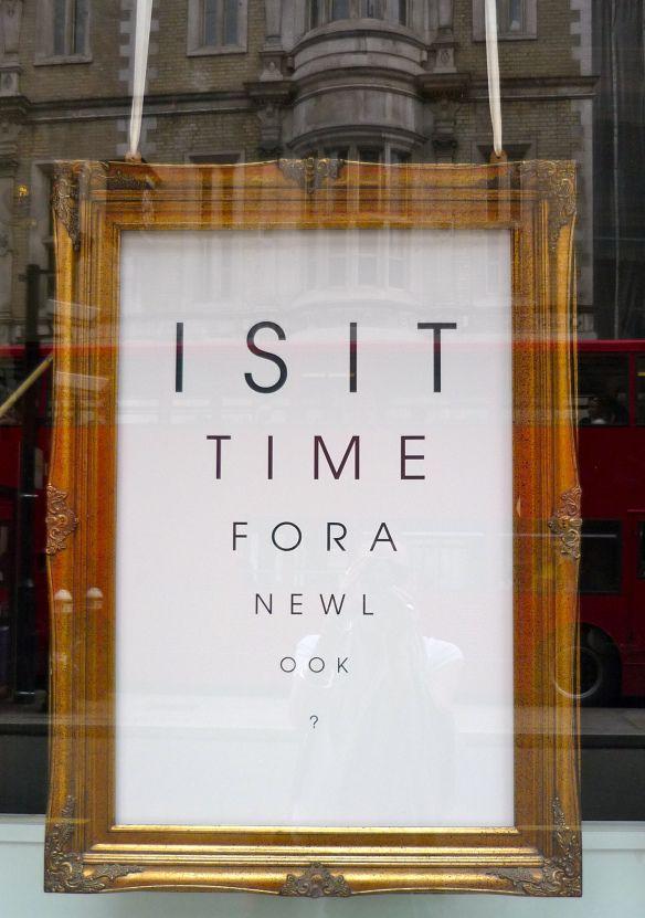 optometrist in Fleet Street.