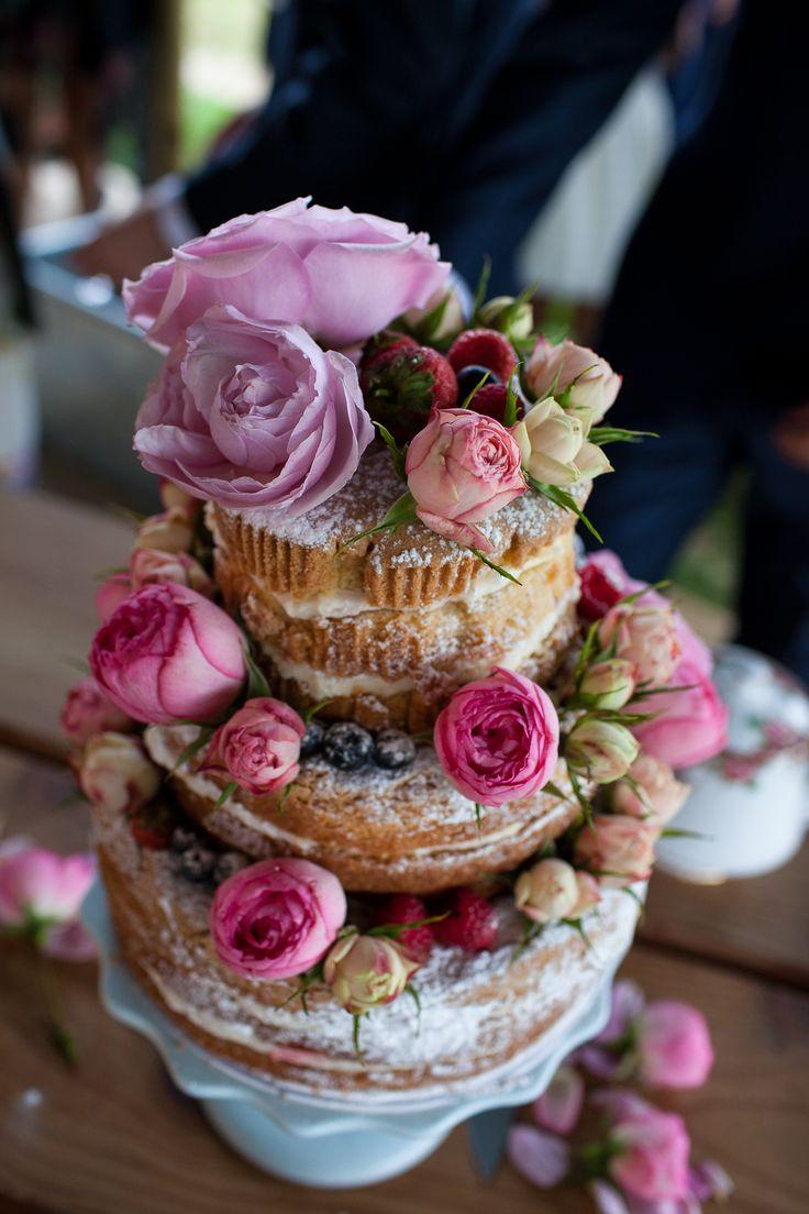 vintage wedding cake at River Cottage HQ. Photo: Limeleafweddings