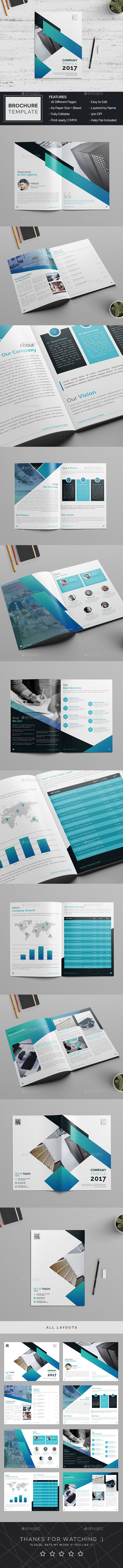 Company Profile Brochure Template — Photoshop PSD #business plan #management • Available here → https://graphicriver.net/item/company-profile-brochure-template/20420262?ref=pxcr