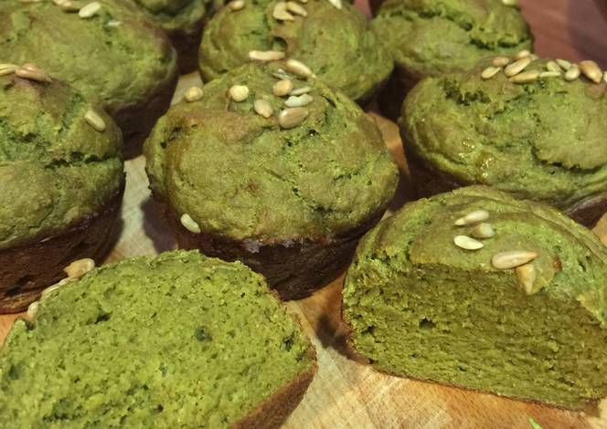 Healthy Matcha Muffins Recipe -  Yummy this dish is very delicous. Let's make Healthy Matcha Muffins in your home!
