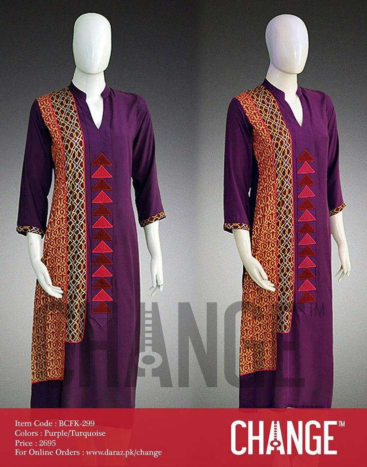 Latest Styles & Designs of Women Kurtas by Change Collection 2015-2016 | GalStyles.com