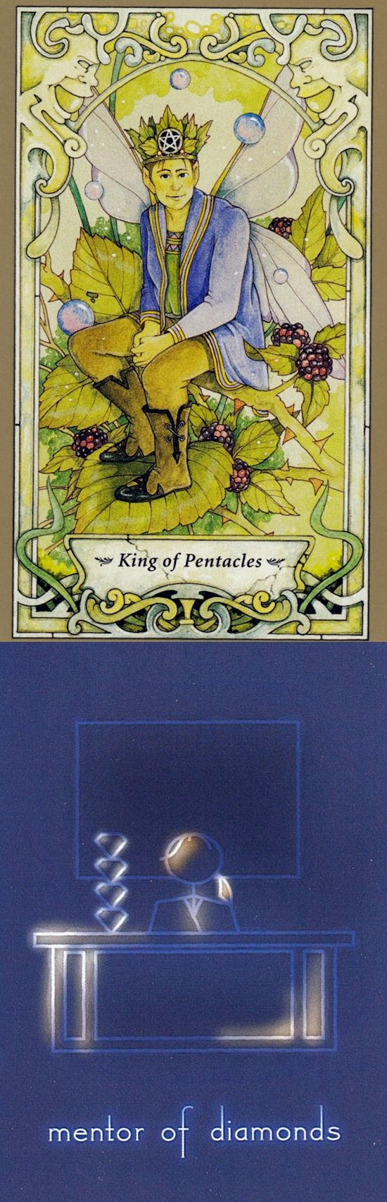 King of Pentacles: financial success and infinite desire for more things (reverse). Mystic Faerie Tarot deck and Celestial Stick Tarot deck: tarotvoodoo, free physic reading and tarotdeck. Best 2018 pagan and oracles of fire bryan davis. #hierophant #ritual #chariot #temperance #intuition #minorarcana