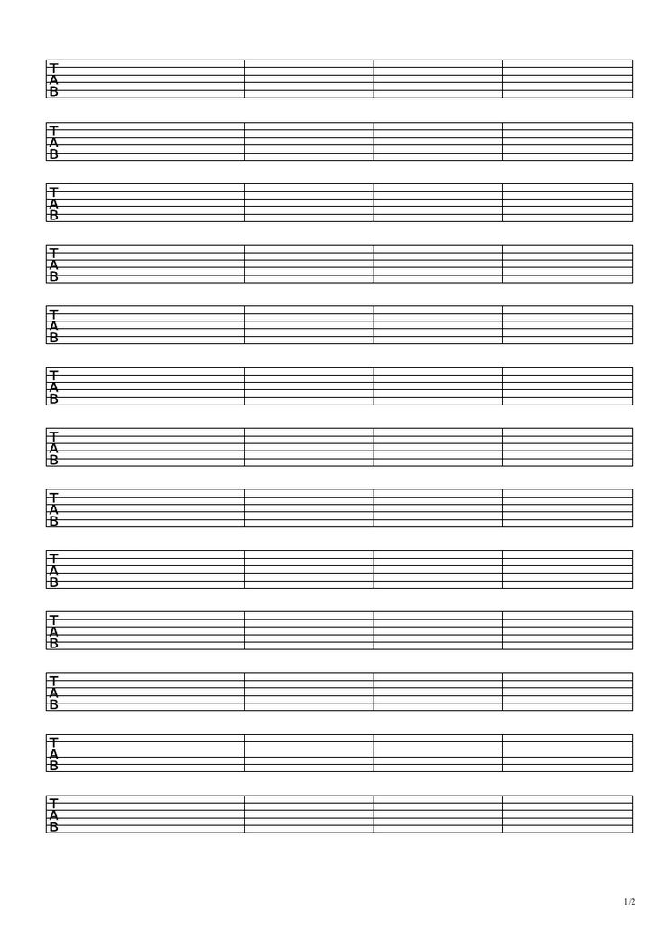 Free Bass Tabs - Printable, Downloadable PDF Bass Tabs