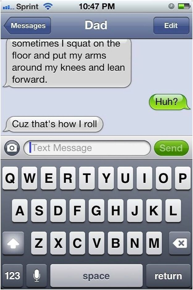 Classic dad joke. | 24 Texts You Don't Want To Get From YourParents