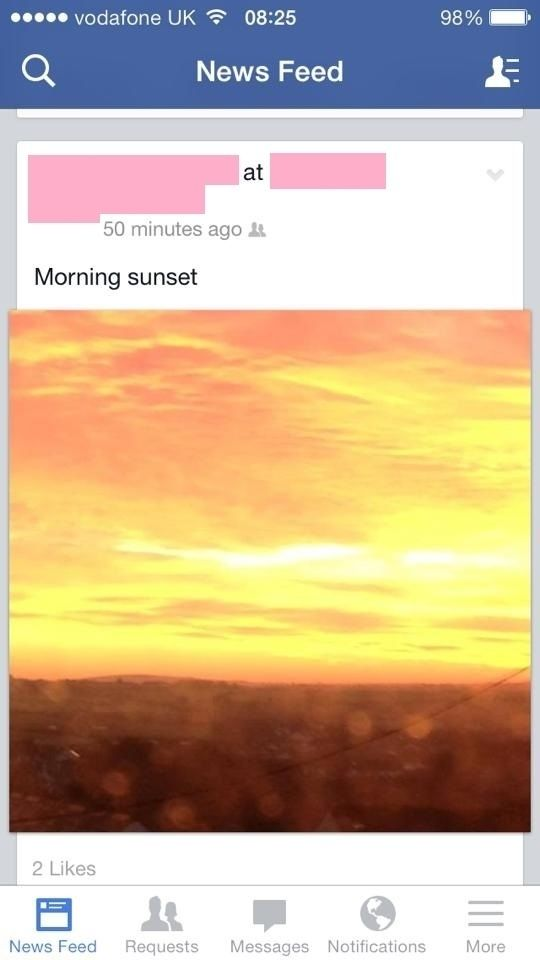 This person's reaction to a sunrise:   The 33 Dumbest Things That Happened In 2013