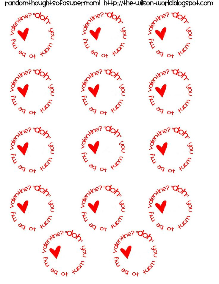 Play-Doh Valentines with Printable Labels