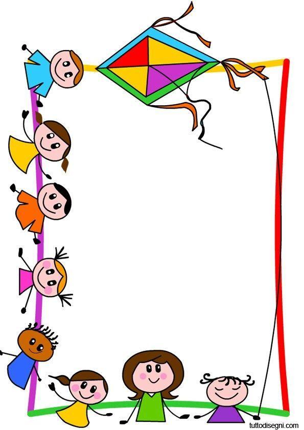 Resultado de imagen para cornicetta bambini Bordes y