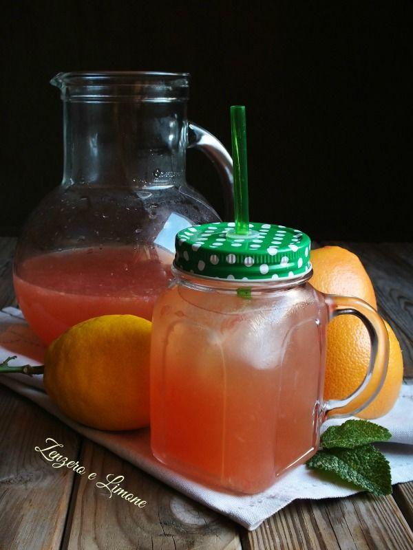cocktail analcolico al pompelmo rosa e menta