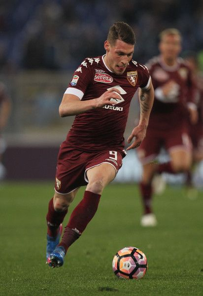 Andrea Belotti of FC Torino in action during the Serie A match between SS Lazio and FC Torino at Stadio Olimpico on March 13, 2017 in Rome, Italy.