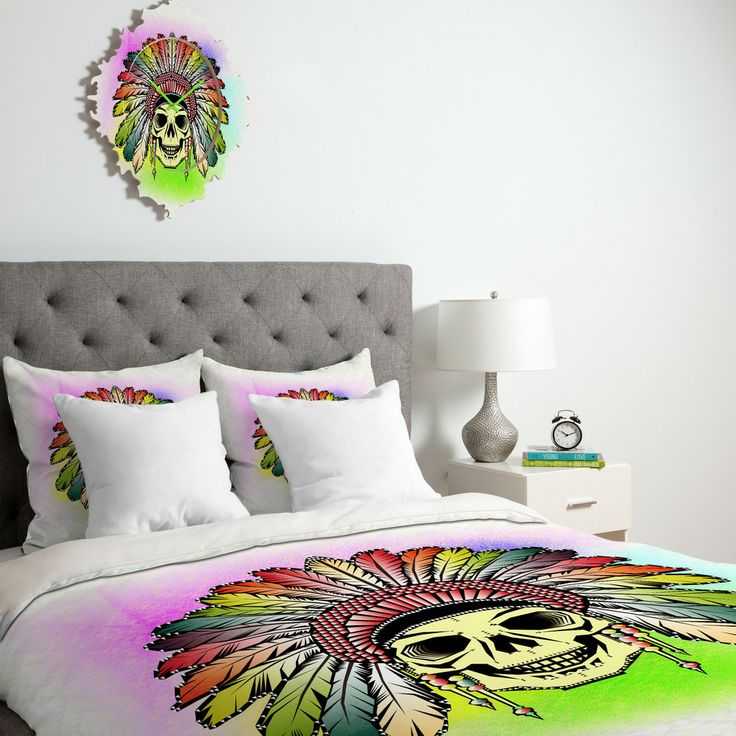Chobopop Rainbow Warrior Duvet Cover | DENY Designs Home Accessories