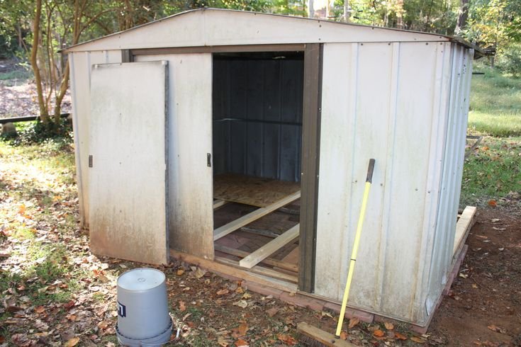 Metal Shed into a coop - detailed project description