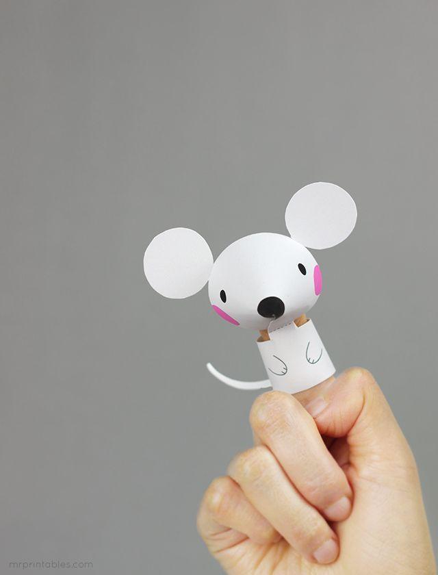 FREE printable  Animal Finger Puppets for kids | Mr Printables