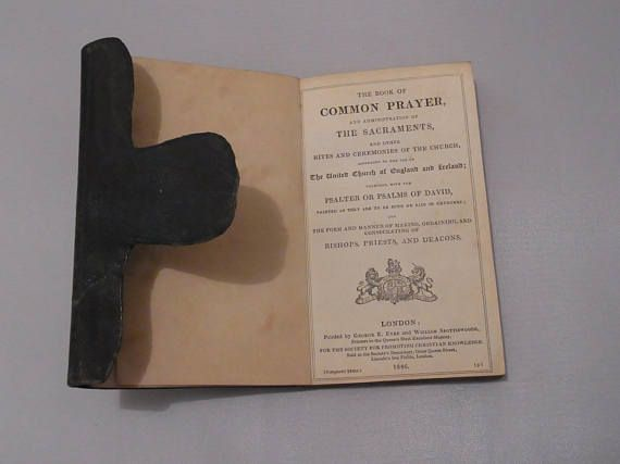 Antique Victorian Leather Bound Book of Common Prayer 1846