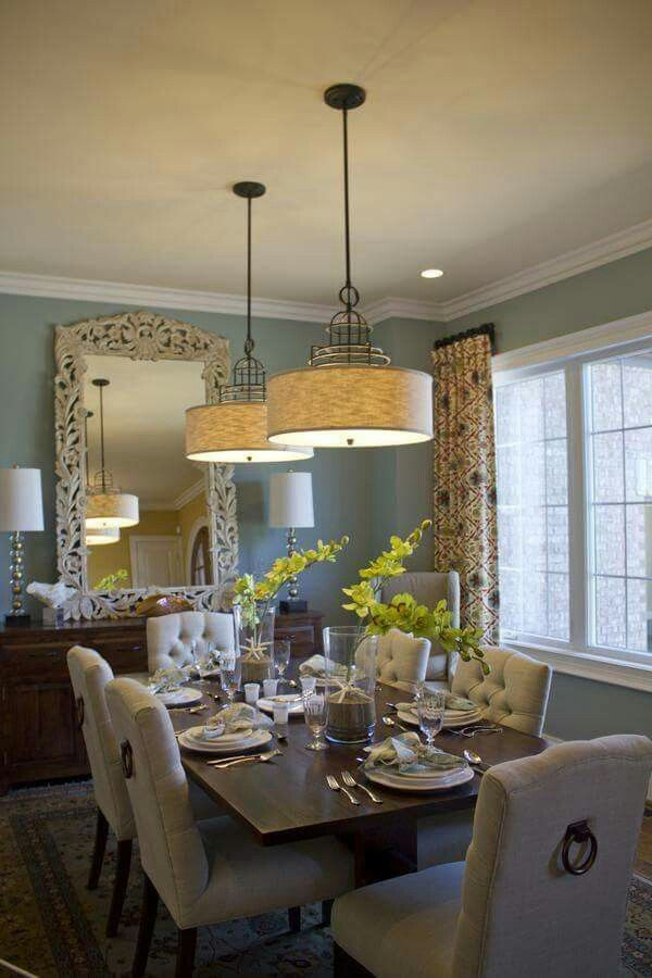 Comedor elegante y sofisticado interiores pinterest for Casual dining room ideas
