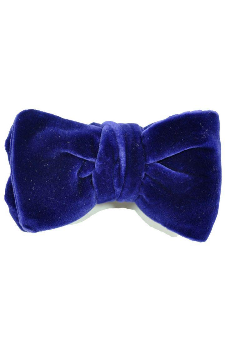 Pre tied bow tie - Solid light blue velvet - Notch VELVET Sky Notch rtoz3f3jS