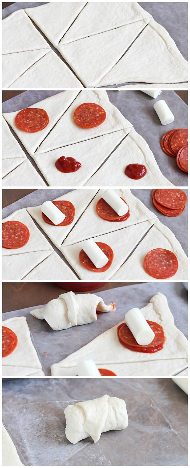 Step by step instructions on how to make simple & delicious Pizza Rolls. Made from pre-made pizza dough, mozzarella sticks, pizza sauce and pepperoni all rolled together in a fun little bite! #ad
