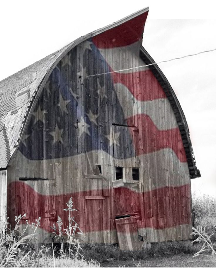 American Barn. Like the idea of painting on the exterior- doesn't have to be a flag right?