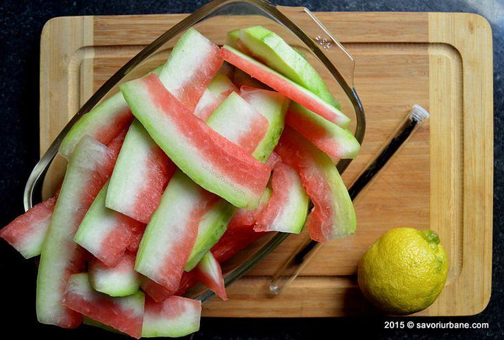 Preparare dulceata din coji de pepene Savori Urbane (2)