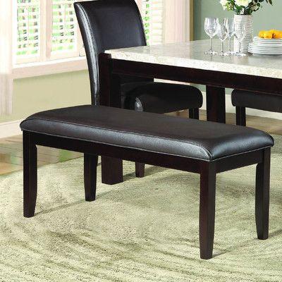 latitude run wobnar upholstered dining bench