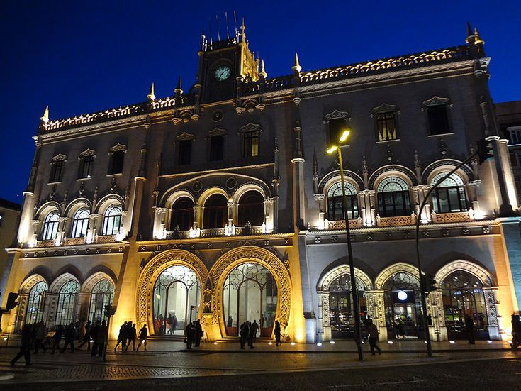 Rossio train station, next door to the hotel