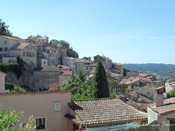 View over Fayence village rooftops