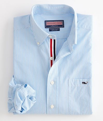 Tucker Sport Shirt: Edgartown Stripe – Vineyard Vines, one of my farthers day gifts.