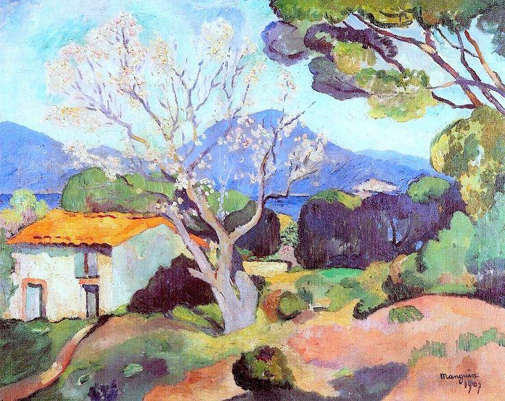 Flowering Almond Trees / Henri Manguin - 1907