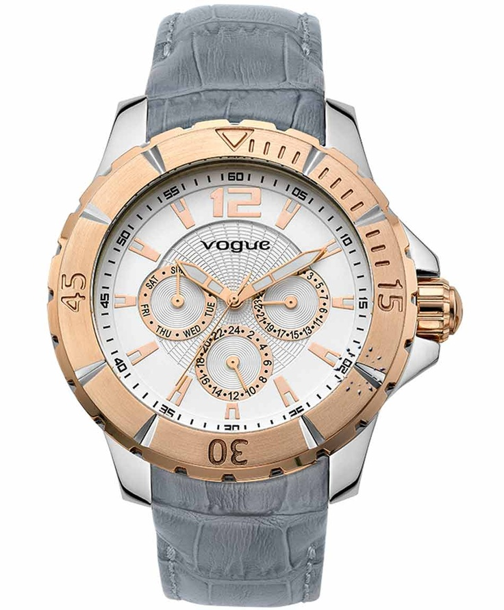 VOGUE City Two Tone Grey Leather Strap  Μοντέλο: 202016101.2  Τιμή: 205€  http://www.oroloi.gr/product_info.php?products_id=31493