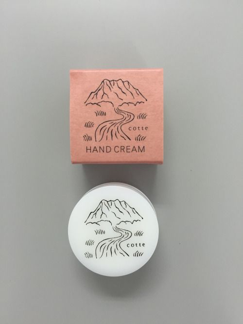 Hand cream packaging design ideas and inspiration. Love the white and dusty pink with cute illustrations.