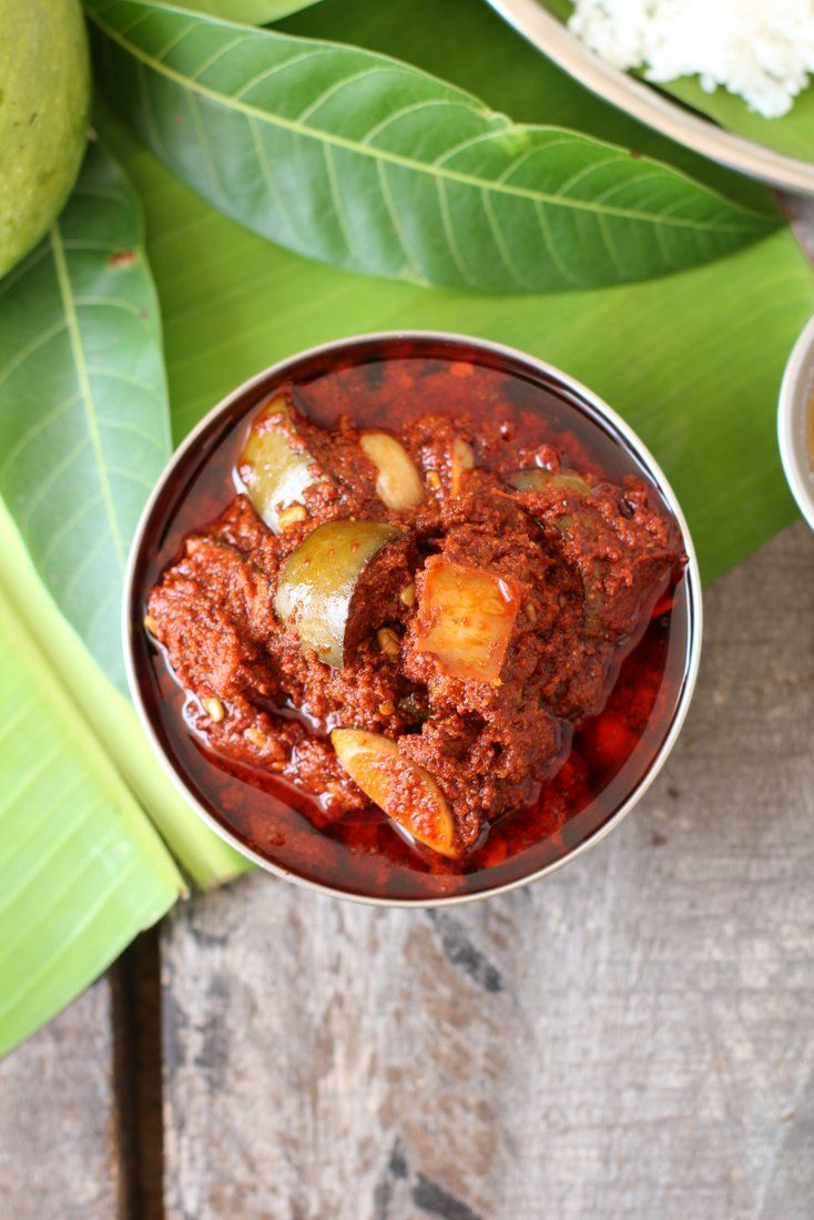 Avakaya, andhra's culinary gem, raw mango pickle. Best served with steamed rice, cooked tur dal and a dollop of ghee (clarified butter).