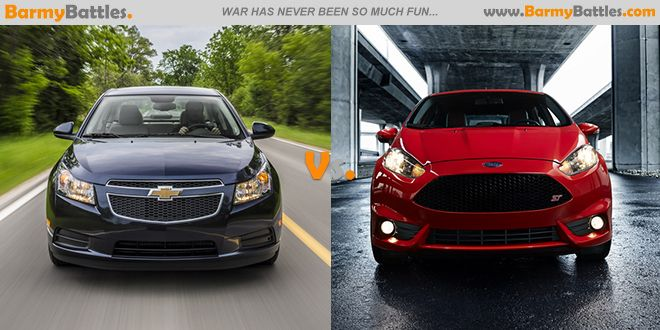 Chevrolet Cruze Diesel Vs Ford Fiesta ST Which is the best car for 2014? #cars #chevrolet #ford CLICK HERE TO VOTE: http://www.barmybattles.com/2014/03/15/chevrolet-cruze-diesel-vs-ford-fiesta-st/