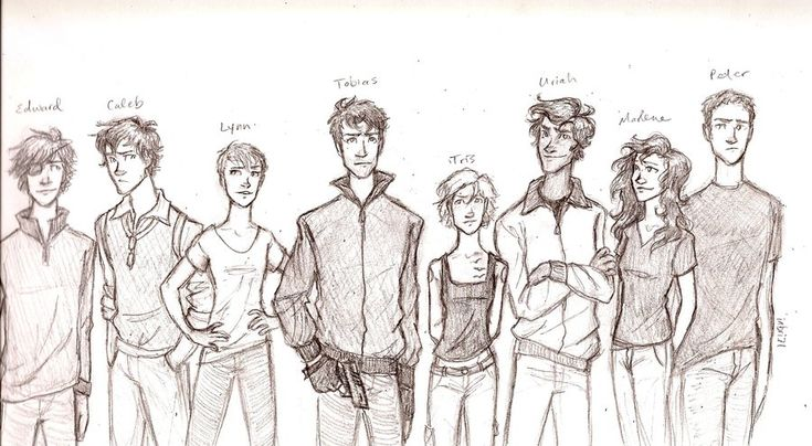 Divergent character lineup by Iabri71